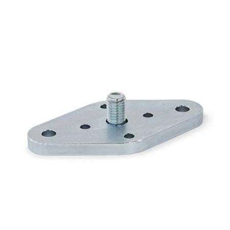 GN 1050.2 Flanges for Quick Release Couplings GN 1050 and Studs GN 1050.1 Coding: F - Fixed bearing