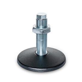 GN 36 Pieds de machine sans trou de fixation central Type (plaque d'assise): C - avec joint torique