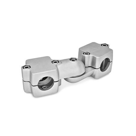 GN 289 Swivel clamp connector joints, two-part clamp pieces d<sub>1</sub> / s<sub>1</sub>: B - Bore d<sub>2</sub> / s<sub>2</sub>: B - Bore Finish: BL - blank