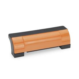 GN 630 Ledge handles, Plastic Color: DOR - orange, RAL 2004, shiny