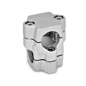 GN 134 Two-Way Connector Clamps, Multi Part Assembly Finish: BL - Plain, Matte shot-blasted
