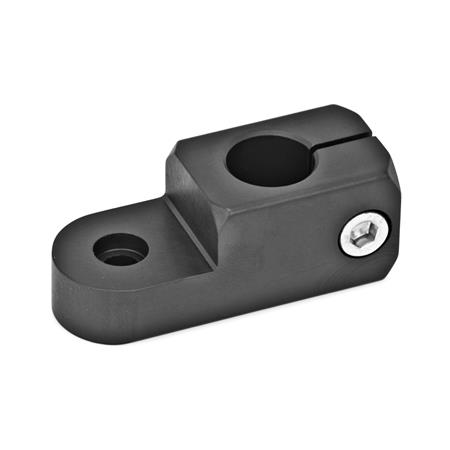 GN 482 Swivel clamp mountings Finish: ELS - anodized black Type: P - Clamping bore parallel to the swivel axis