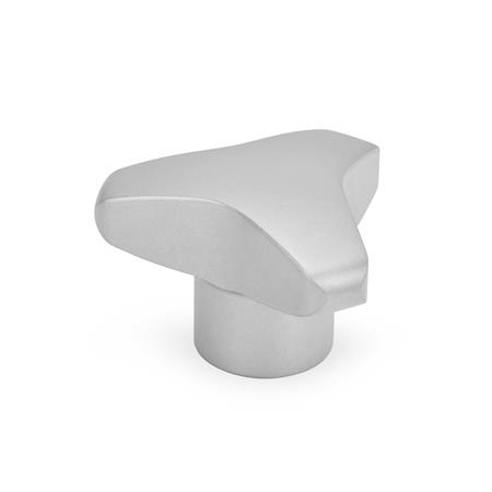 GN 5345.4 Stainless Steel-Three-lobe knobs, AISI 316L Type: E - with threaded blind bore