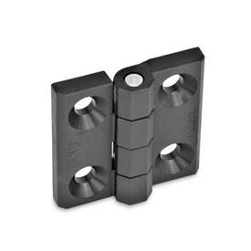 GN 237.1 Scharniere, Kunststoff Form: A - 2x2 Bohrungen für Senkschrauben