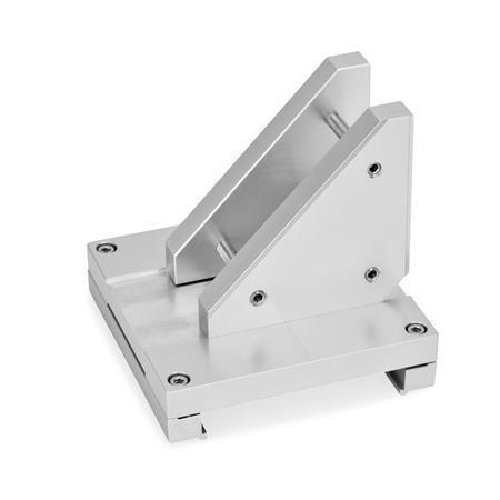 GN 900.3 Verbindungssätze X-Z, Aluminium Form: P - Montage der Z-Achse über Verbindungsplatte und Zusatzplatte