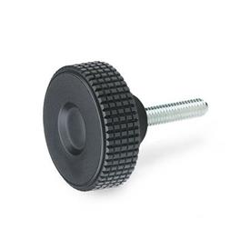 GN 534 Knurled screws, Plastic