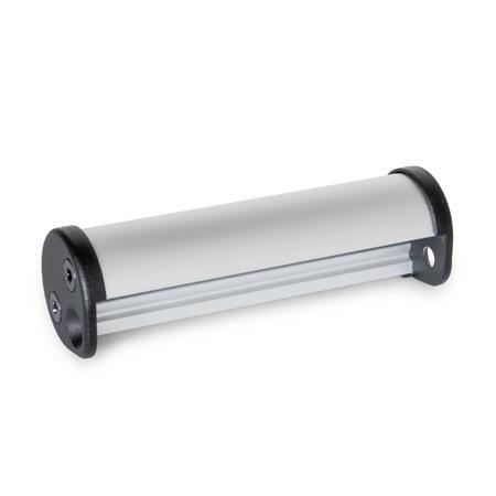 GN 481 Kantengriffe, Aluminium / Zink-Druckguss Oberfläche: EL - eloxiert, naturfarben