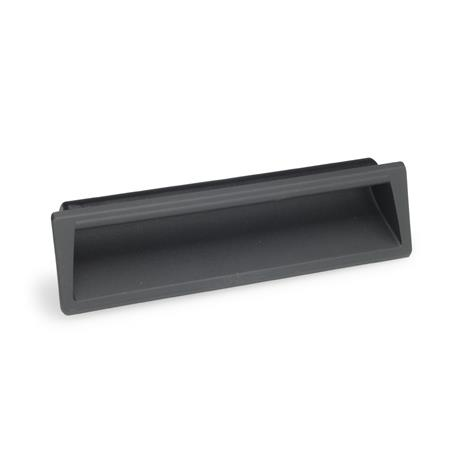 GN 731.1 Gripping trays, clip-in type, Plastic Color: SG - black-gray, RAL 7021, matte