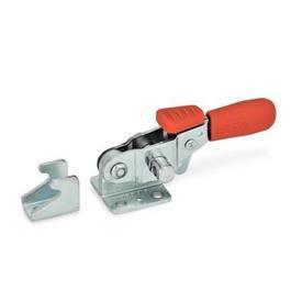 GN 851.3 Verschluss-Spanner mit Verriegelung, Stahl, für Zugspannung Form: T - ohne Zugbügel, mit Gegenhalter<br />Werkstoff: ST - Stahl