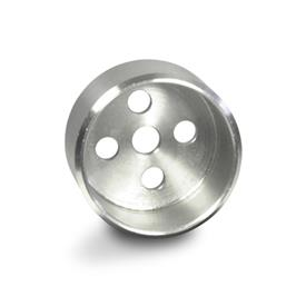 GN 187.1 Guide pots, Stainless Steel, for serrated locking plates GN 187.4