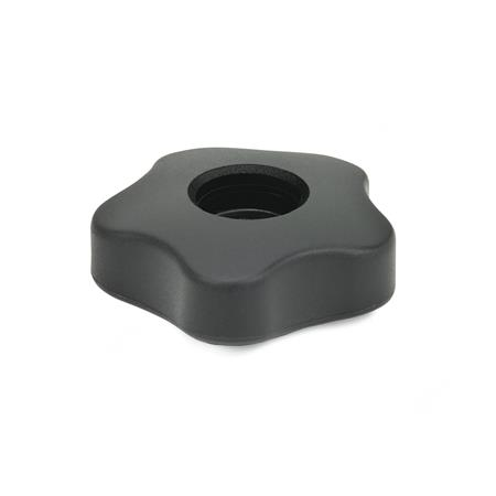 GN 5331 Star Knobs, Low Type Type: A - Without cover cap