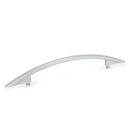 GN 665 Poignées ellipse, aluminium Finition: SR - argenté, RAL 9006, finition texturée