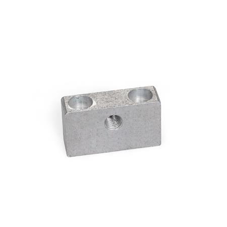 GN 828 Bearing Blocks for Stainless Steel Adjusting Screws GN 827 Type: A - with thread, mounting from above