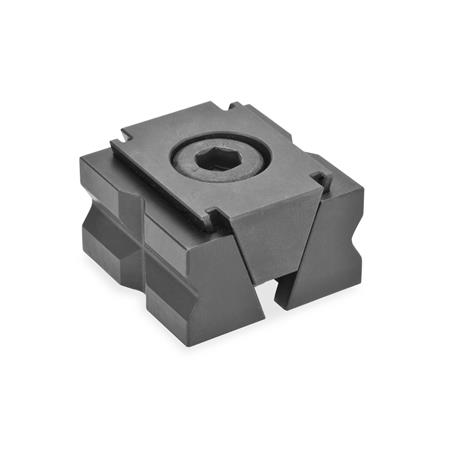 GN 920.1 Wedge clamps, Steel Type: PR - with prism jaws
