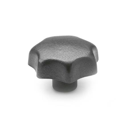 DIN 6336 Star knobs, Cast iron / Aluminum, without bore Material: GG - Cast iron