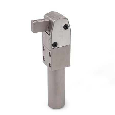 GN 864 Power Clamps, Pneumatic Finish: NC - Chemically nickel plated