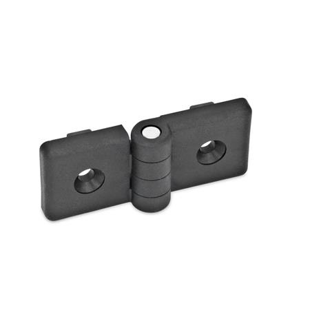 GN 159 Hinges for profile systems, Plastic Color: SW - black, matte Width l<sub>1</sub>: 84