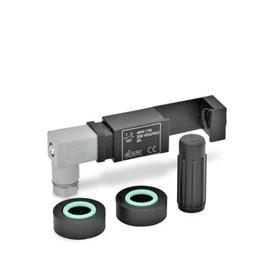GN 654.2 Assembly sets for electrical oil level control Type: NO - 1 switchgear with one contact 'normally open'