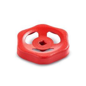 GN 227.6 Stahlblech-Handräder, für Armaturen Oberfläche: RT - rot, RAL 3000, matt