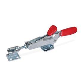 GN 850.2 Cepos de palanca, con bloqueo, accionamiento por tracción Tipo: TG - con eje de tracción, con contrapieza, con anclaje de ojal