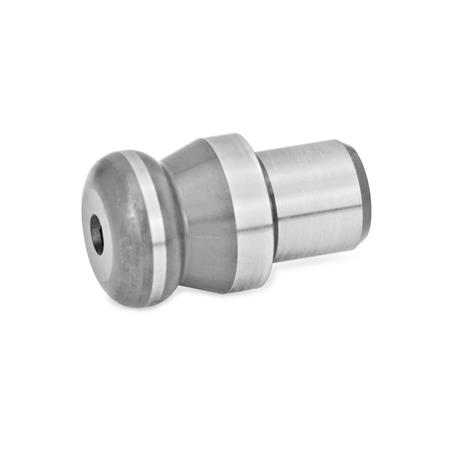GN 6322 Workholding bolts with ball-type shoulder  Type: B - Workholding bolt, high, cylindrical