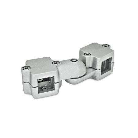 GN 289 Swivel clamp connector joints, two-part clamp pieces Square s<sub>1</sub>: V 45 Type: S - stepless adjustment Identification no.: 2 - with 5 Stainless Steel-clamping screws DIN 912 Finish: BL - blank