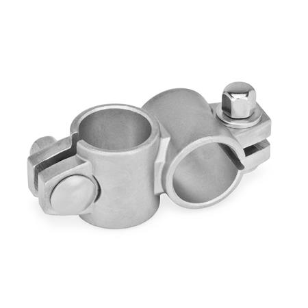 GN 132.5 Stainless Steel-Two-way connector clamps Type: A - without sealing