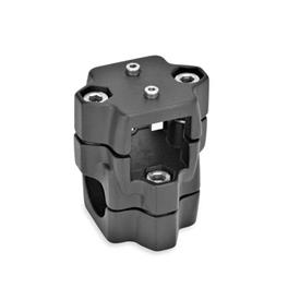GN 134.1 Linear actuator connectors, Aluminum d<sub>1</sub> / s<sub>1</sub>: V - Square<br />d<sub>2</sub> / s<sub>2</sub>: B - Bore