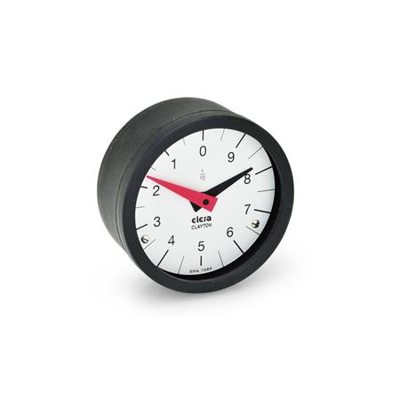 GN 000.9 Position indicators, Retaining sytem, analog indication Type: L - Numbers ascending anti-clockwise
