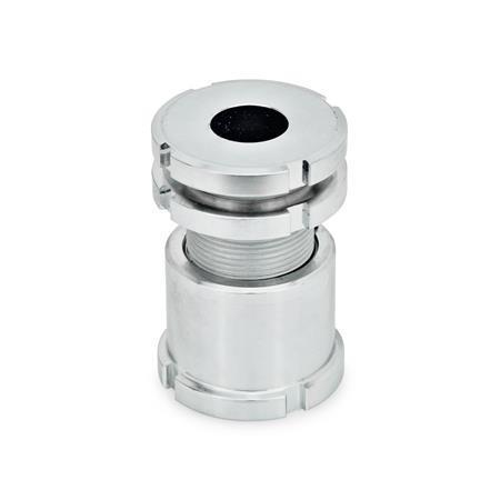 GN 350 Ausgleich-Elemente, hohe Ausführung, Stahl Werkstoff: ST - Stahl Form: AK - mit Kontermutter