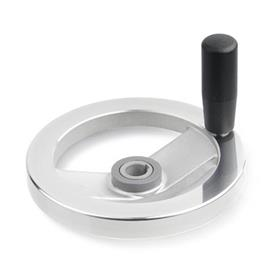 GN 322.4 Safety handwheels with friction bearing Type: D - with revolving steel handle