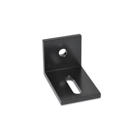 GN 970 Montage-Winkel, ungleichschenklig Werkstoff: STB - Baustahl Winkelform: C - mit Bohrungen und Langlöcher