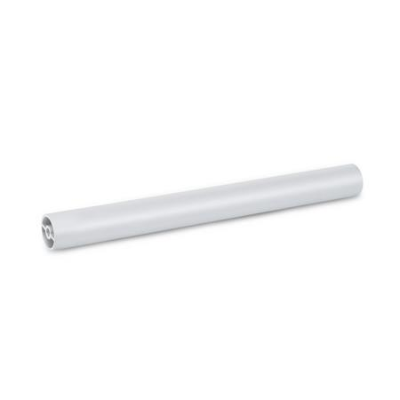 GN 930 Handle tubes, Aluminum Finish: EL - anodized, natural color