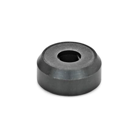 GN 6311.1 Thrust pads, Steel, blackened Type: A - Thrust pad surface plane, without plastic cap