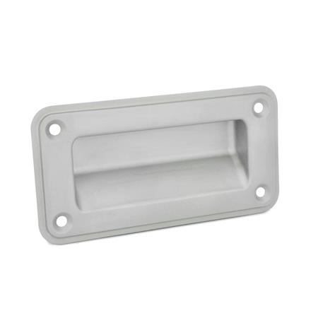 GN 7332 Stainless Steel-Gripping trays, screw-in type Type: A - Mounting from the operator's side Identification no.: 1 - without sealing