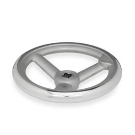 DIN 950 Spoked handwheels, Aluminum, Cast iron Material: AL - Aluminum<br />Bore code: V - with square<br />Type: A - without handle