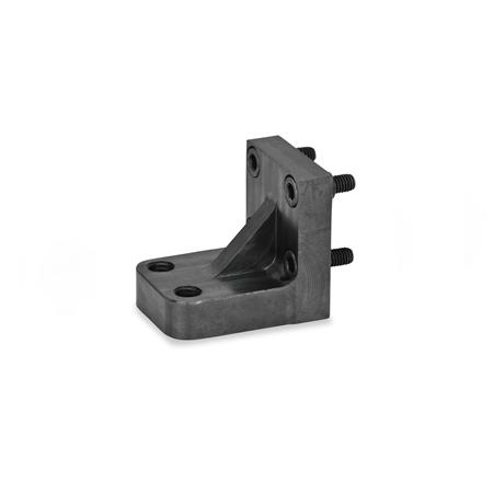 GN 867.1 Static holders for power clamps Type: Z - for two clamping bolts