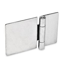 GN 136 Stainless Steel-Sheet metal hinges, horizontally elongated Material: NI - Stainless Steel<br />Type: A - without bores