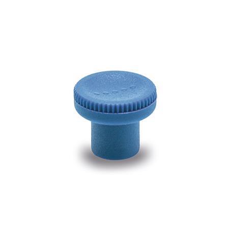 GN 676 Boutons moletés, détectables, plastique conforme FDA Matériau/Finition: VDB - visible à l'œil nu