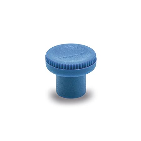 GN 676 Knurled knobs, detectable, FDA compliant plastic Material / Finish: VDB - visually detectable