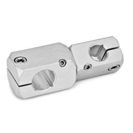 GN 475 Twistable two-way clamp mountings, Aluminium Finish: MT - matte, ground