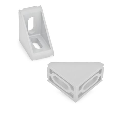 GN 561 Fixing angle pieces, type A, Plastic Type of angle piece: A - 2 x slotted holes b2, without guide steps Identification No.: 1 - without cover
