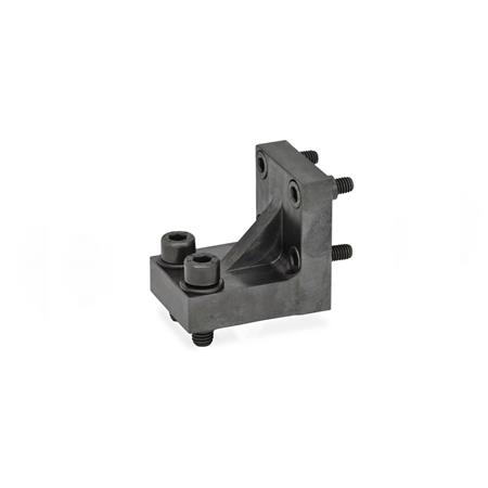 GN 868.1 Bracket / double post bracket accessories for power clamps Type: R - Jaw block at right angle to clamping arm