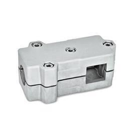 GN 193 Winkel-Klemmverbinder, Aluminium d<sub>1</sub> / s<sub>1</sub>: B - Bohrung<br />d<sub>2</sub> / s<sub>2</sub>: V - Vierkant<br />Oberfläche: BL - blank, matt gestrahlt