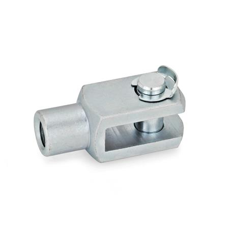 GN 751 Fork joints, Steel Material: ST - Steel Type: KL - Pin with KL-shaft safety