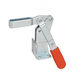 GN 812 Toggle clamps, operating lever vertical, with dual flanged mounting base Type: AV - U-bar version, with two flanged washers