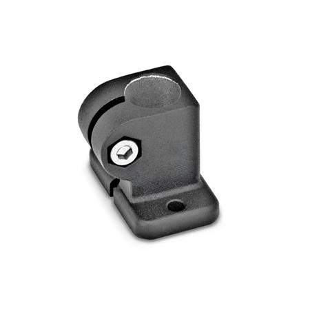 GN 162.3 Base plate connector clamps, Aluminum Finish: SW - black, textured finish
