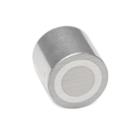 GN 52.3 Retaining magnets with female thread Finish: ZB - zinc plated