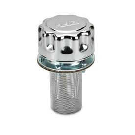 GN 764 Belüftungsdeckel mit Filter und Doppelventil Bajonett d<sub>2</sub>: BA<br />Form: F - mit Filter