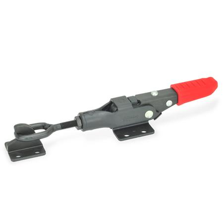 GN 853 Latch clamps with locking mechanism Type: TG - with tie-rod, with catch, with oval head latch bolt<br />